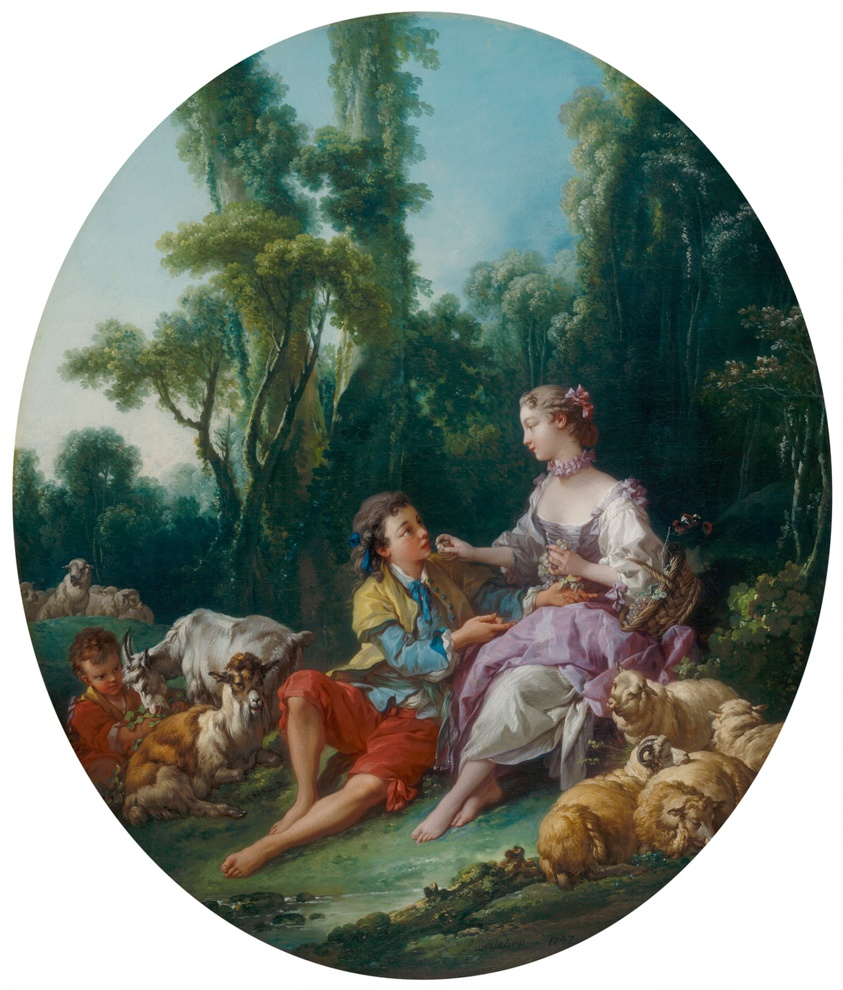François Boucher, Are They Thinking about the Grape?, 1747, The Art Institute of Chicago, Chicago, USA.