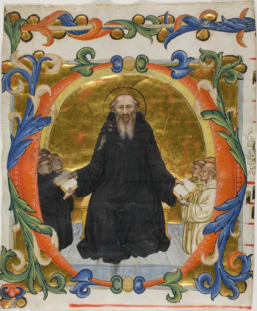 Saint Benedict Presenting His Rule To Benedictine And