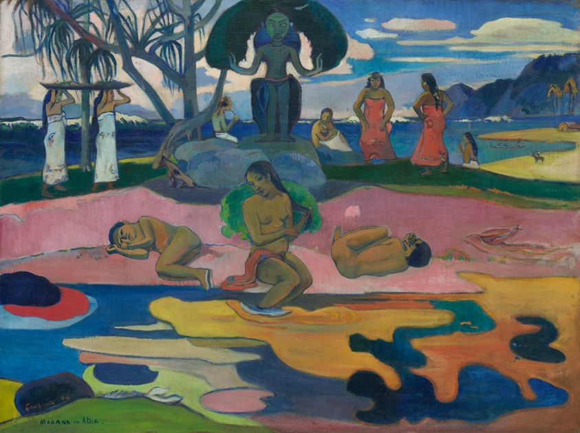 24x36 Artist Paul Gauguin Art Poster Mahana no Atua