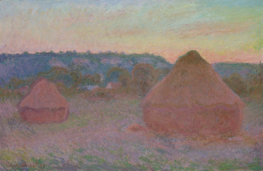 Stacks of Wheat (End of Day, Autumn), 1890/91. Claude Monet. Digital image courtesy of the Art Institute of Chicago.