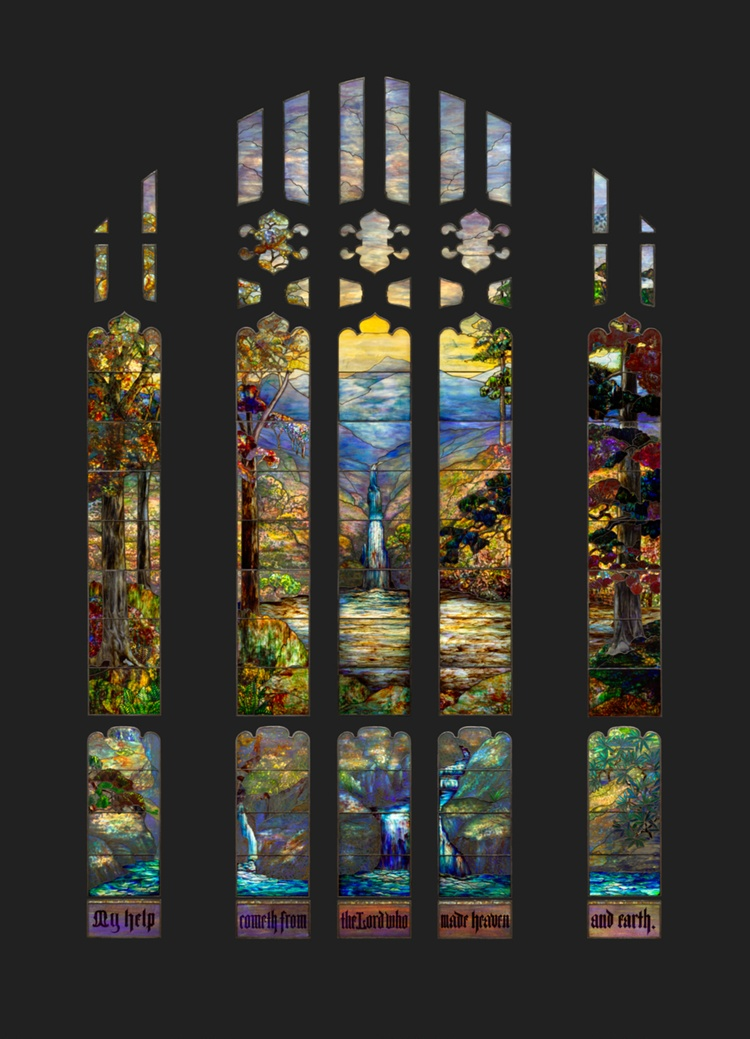 A work made of leaded glass.