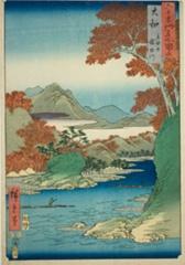 AIC-1939.1505.「六十余州名所図会」 「大和 立田山 竜田川」・・『』