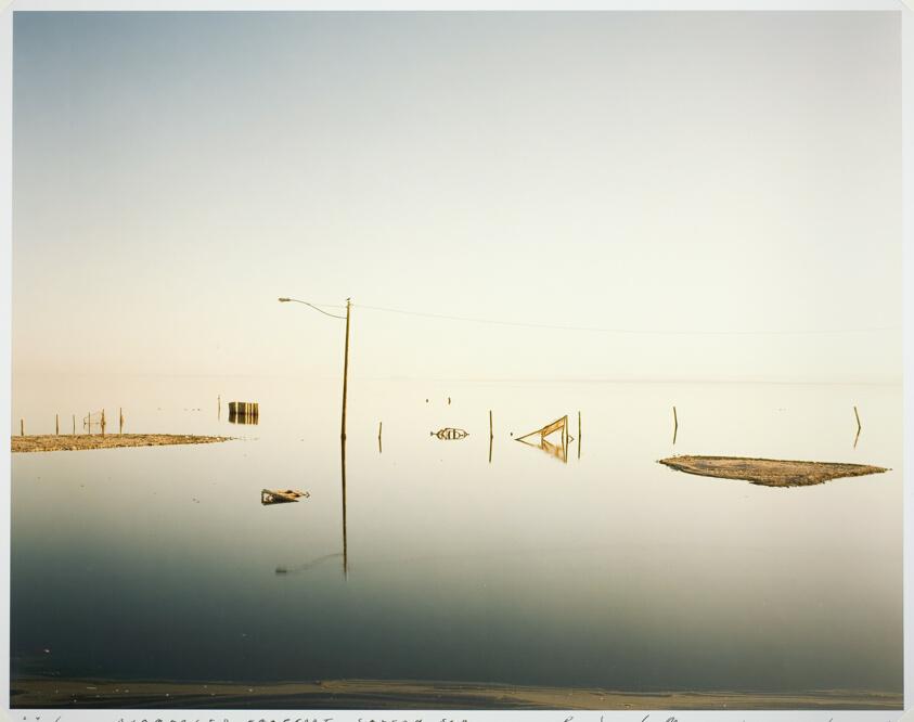 Submerged Lamppost, Salton Sea by Richard Misrach
