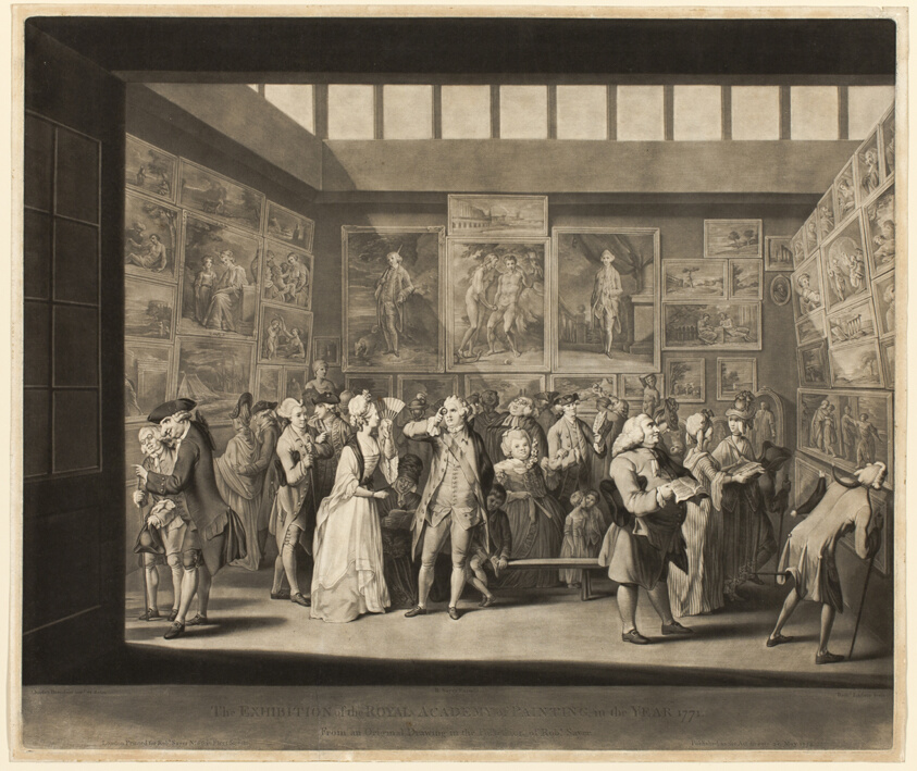 The Exhibition of the Royal Academy of Painting in the Year 1771   The Art  Institute of Chicago