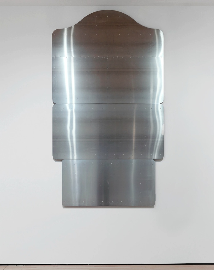 A work made of aluminum.