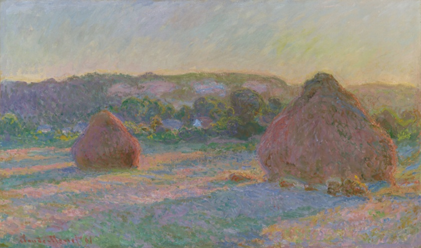 Stacks of Wheat (End of Summer), 1890/91. Claude Monet. Digital image courtesy of the Art Institute of Chicago.