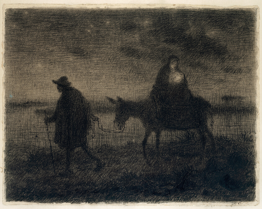 Jean François Millet, The Flight Into Egypt, c. 1864. Image copyright the Art Institute Chicago.