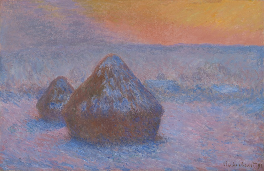 Stacks of Wheat (Sunset, Snow Effect), 1890/91. Claude Monet. Digital image courtesy of the Art Institute of Chicago.